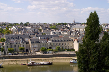 View over Angers skyline, Maine et Loire, France, Europe