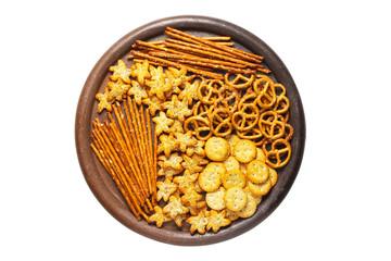 snacks in a ceramic plate