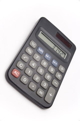 Calculator on white background showing value of pi