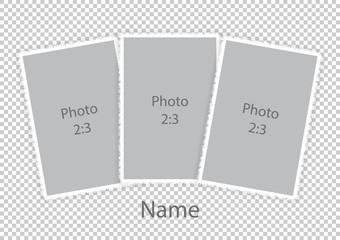 Template modern photoframes soft white frames