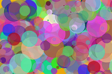 Colorful random circles or bubbles shape & pattern for design background
