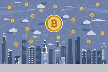 Modern City and Bitcoin Network