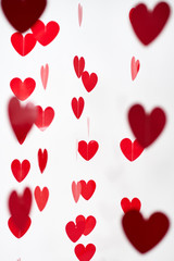 Valentines's Day red hearts background