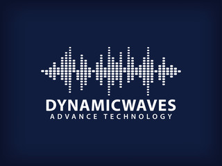 vector design illustration of dynamic sound wave, radio frequency modulation, random sound wave, amplitude wave, vibration,