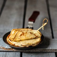 Pancakes - hot, fresh and delicious