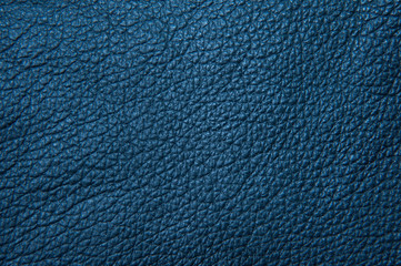 Texture of blue painted leather. Artistic background.