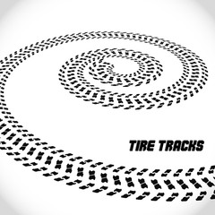 Tire track silhouette motorcycle. Speed banner. Vector illustration EPS10.