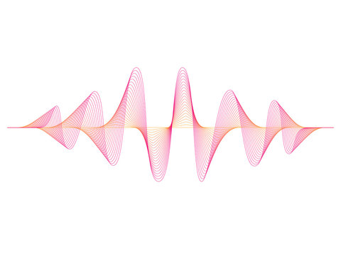 colorful vector design illustration of dynamic sound wave, radio frequency modulation, random sound wave, amplitude wave, vibration,