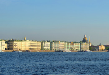 Palace Embankment and Neva River.