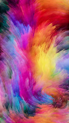Quickening of Colorful Paint