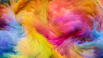 Colorful Paint Visualization