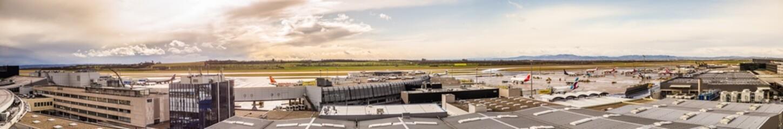 Flughafen Wien Schwechat Österreich (LOWW) Panorama
