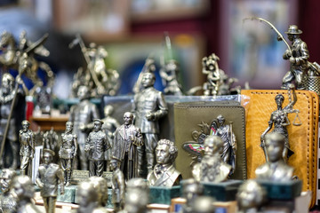 Bronze copper and tin figurines of kings queens and other royalty