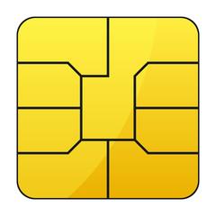 Mobile phone sim card – stock vector