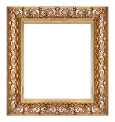 Gold (golden) frame for paintings, mirrors or photos