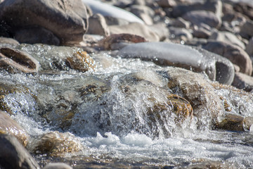 River rapid and stone
