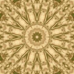 Tribal etching kaleidoscope