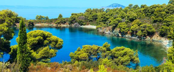 Poster Cote Morning Aegean coast, Sithonia, Greece.