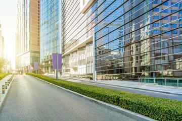 City Square and building landscape skyscraper in central Qingdao