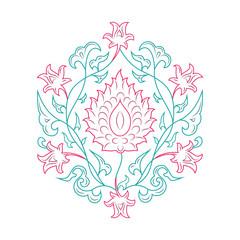 03 Floral pattern lineart tale