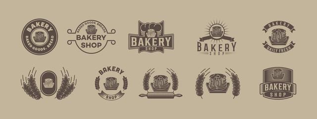 Set Classic Bakery Logo
