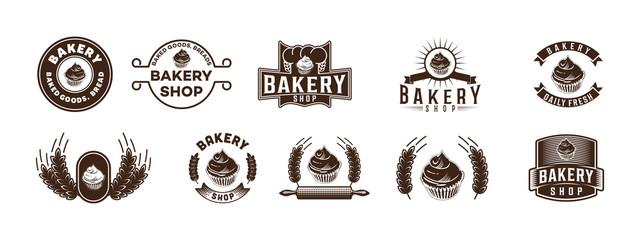 Set Vintage Bakery Logo