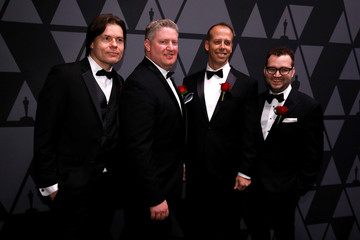 Watt, Wells, Reisig and Powell, recipients of Technical Achievement Award for the Premo character animation system, pose at the Scientific and Technical Awards presented by the Academy of Motion Picture Arts and Sciences in Beverly Hills
