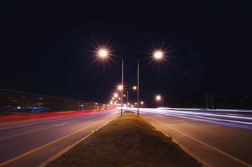traffic highway road at night