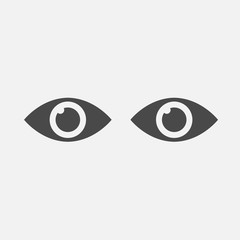human eye icon for science projects and sight vector eps10