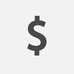dollar sign vector icon currency for finance money and business