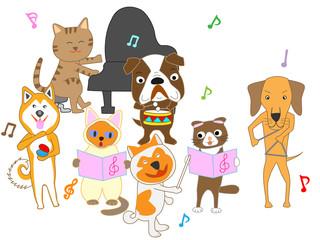 犬と猫のコンサート