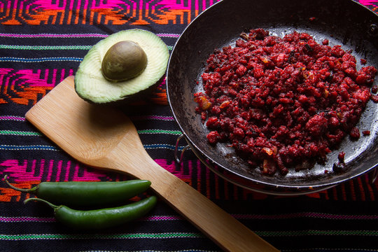 Mexican chorizo and avocado