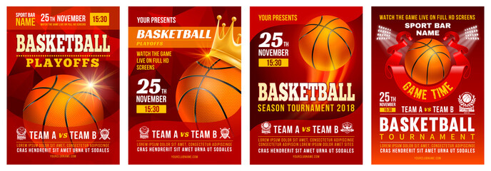 Basketball Poster Set
