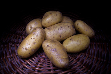 organic potatoes   (light painting technique)