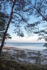 Still water in gulf of Riga, Baltic sea.