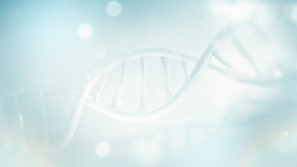 clear DNA strand