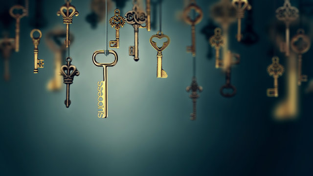 onceptual image with hanging keys
