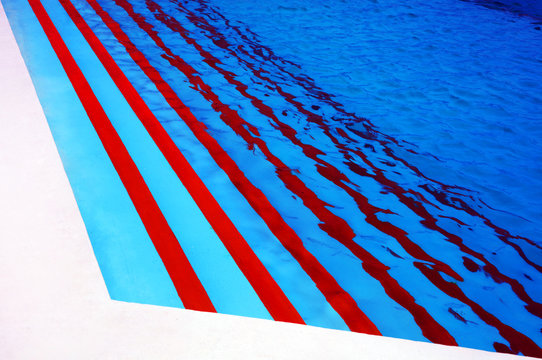 Beautiful clear pool water - Abstract background