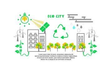 Ecology design on white background. Vector illustration.