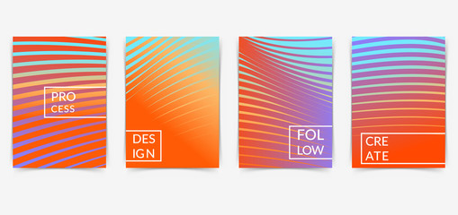 Bright abstract minimalistic line pattern folder collection