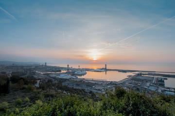 Barcelona views of Montjuic