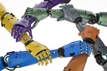 robot or cyborg teamwork