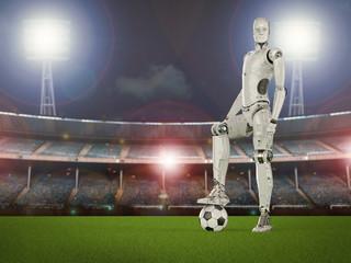 robot play soccer