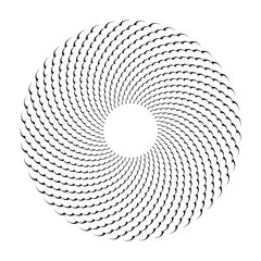 Circle design element. Abstract rotation circular pattern.
