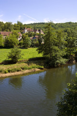 The picturesque Cele Valley at Cabrerets in The Lot, France, Europe