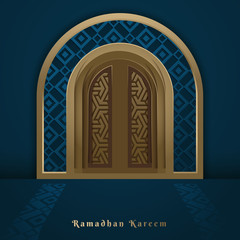 Ramadan Kareem islamic vector design greeting card