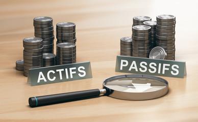 Bilan actifs passifs. Comptabilité d'entreprise