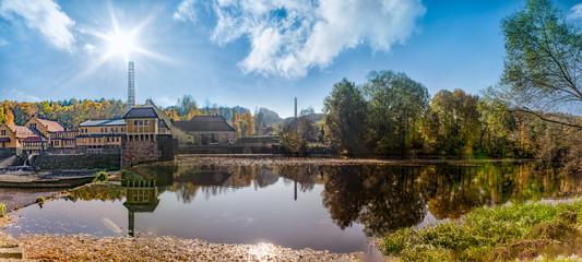 Wasserkraftwerk Mittweida am Fluß Zschopau in Mittelsachsen
