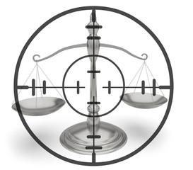 Tirer justice viseur balance