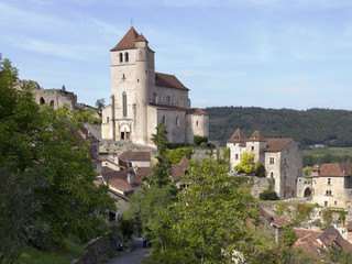 Europe, France, Midi Pyrenees, Lot, the historic clifftop village tourist attraction of St Cirq Lapopie